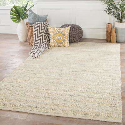 Whitecap Gray 9 ft. x 12 ft. Stripe Area Rug