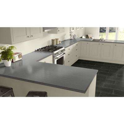 4 ft. x 8 ft. Laminate Sheet in Satin Stainless with Premium Linearity Finish