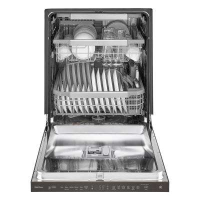Top Control Tall Tub Smart Dishwasher w/ 3rd Rack, WiFi Enabled in Black Stainless Steel w/ Stainless Steel Tub, 44 dBA