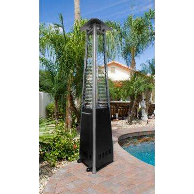 38,000 BTU Commercial Black Quartz Tube Propane Patio Heater