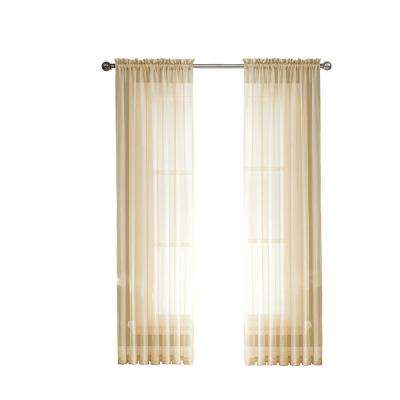 Sheer Curtains beige sheer curtains : Beige - Sheer - Curtains & Drapes - Blinds & Window Treatments ...