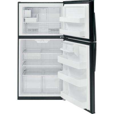 21.1 cu. ft. Top Freezer Refrigerator in Black, ENERGY STAR