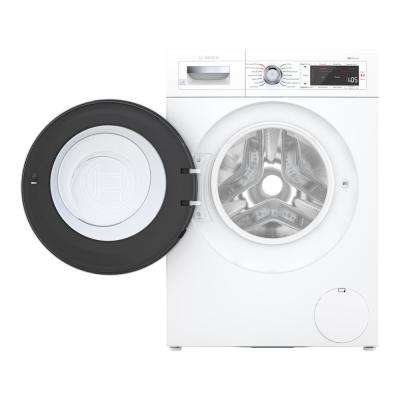 800 Series24 in. 2.2 cu. ft. White with Chrome Accents and Home Connect High-Efficiency Front Load Washer, ENERGY STAR