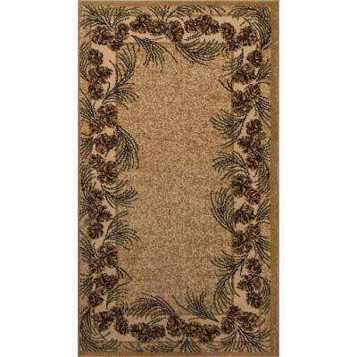 Whispering Pine Beige 2 ft. x 3 ft. 5 in. Accent Rug
