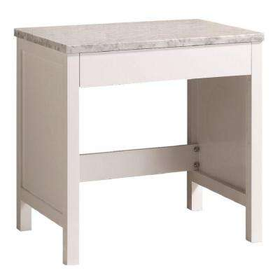 London 30 in. W x 22 in. D Makeup Vanity in White