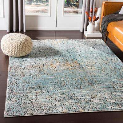 Caius Aqua 2 ft. x 3 ft. Solid Area Rug