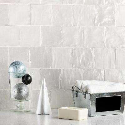 Amagansett White 4 in. x 4 in. 9mm Satin Ceramic Wall Tile (5.38 sq. ft. / box)