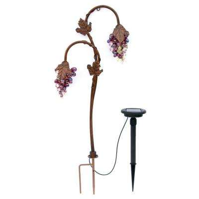 Twin Head Grape Lighting Bronze Solar LED Path Light