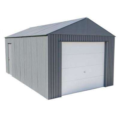Everest 12 ft. H x 20 ft. W Charcoal Wind and Snow Rated Steel Garage
