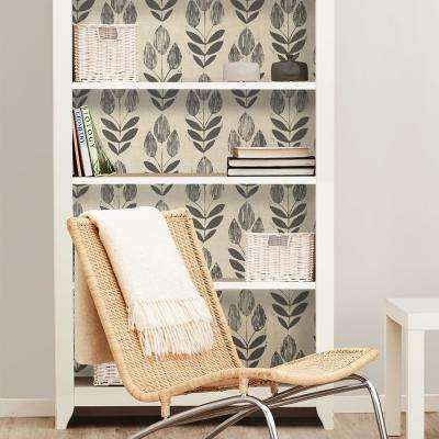 30.75 sq. ft. Folk Tulip Peel and Stick Wallpaper