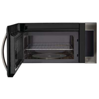 2.0 cu. ft. Over the Range Microwave Oven in Black Stainless Steel with Sensor Cooking Technology
