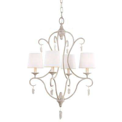 Caprice 4-Light Chalk Washed White Chandelier