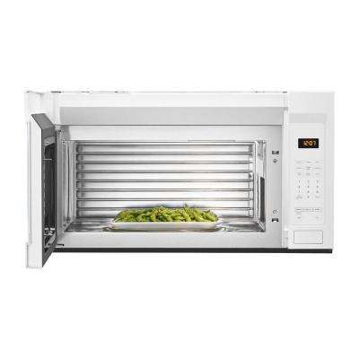 1.9 cu. ft. Over the Range Microwave with Stainless Steel Cavity in White