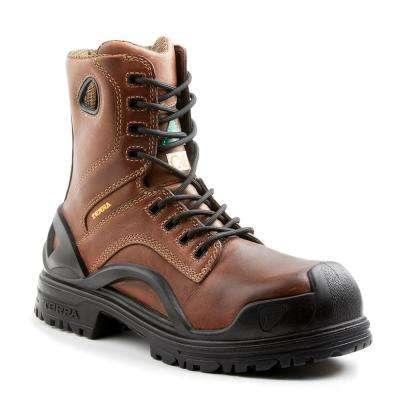 Bridge Men's Brown Leather Work Boot