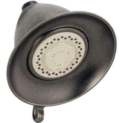 Victorian 3-Spray 5-1/2 in. Touch-Clean Shower Head in Aged Pewter