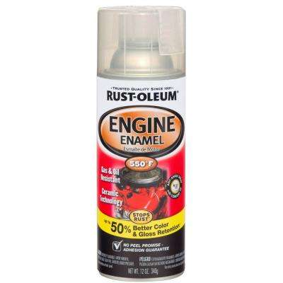 12 oz. 550 Degree Gloss Clear Ceramic Engine Enamel Spray Paint (Case of 6)