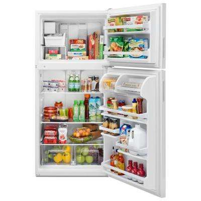30 in. W 18.2 cu. ft. Top Freezer Refrigerator in White