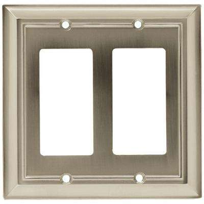 Architectural 2 Rocker Wall Plate - Satin Nickel