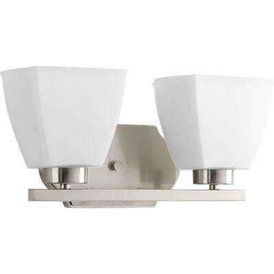 Bounty Collection 2-Light Brushed Nickel Bath Light