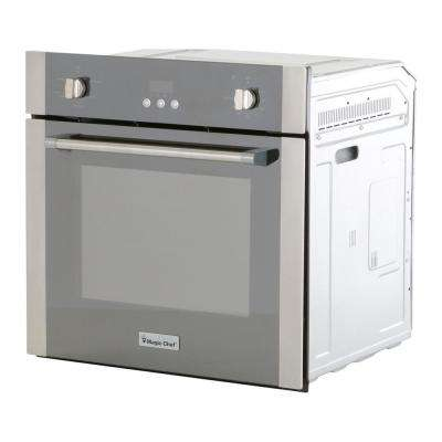 24 in. 2.2 cu. ft. Single Electric Wall Oven with Convection in Stainless Steel