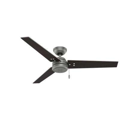 Cassius 52 in. Indoor/Outdoor Matte Silver Ceiling Fan