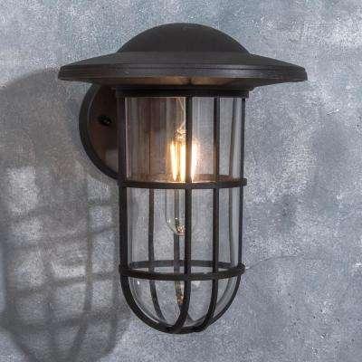 Coastal Niantic 1-Light Oil Rubbed Bronze Outdoor Wall Mount Lantern