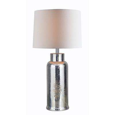 Turnbull 30.5 in. Mercury Indoor Table Lamp with White Shade