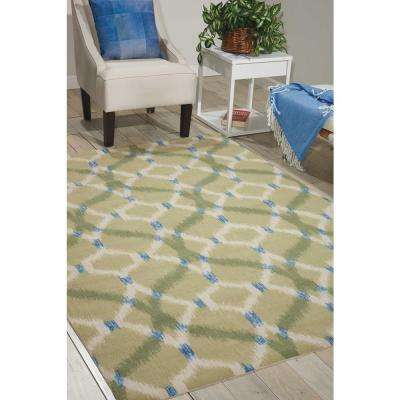 Izmir Ikat Avocado 10 ft. x 13 ft. Indoor/Outdoor Area Rug