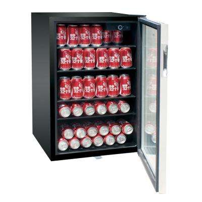 20.5 in. 150-Can Beverage Center in Stainless Steel