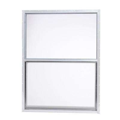 30 in. x 40 in. Mobile Home Single Hung Aluminum Window - White