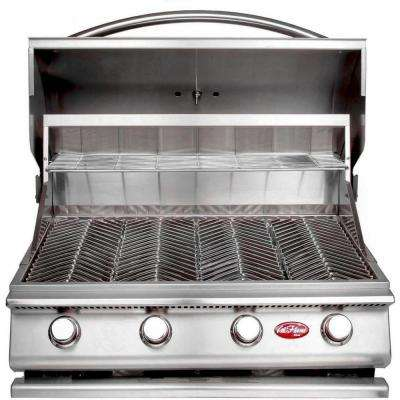 Gourmet Series 4-Burner Built-In Stainless Steel Propane Gas Grill