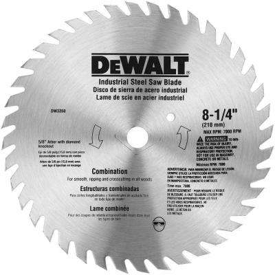 8-1/4 in. 40-Teeth Steel Combination Saw Blade
