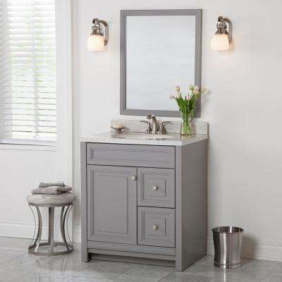 Brinkhill 30 in. W x 21.65 in. D x 34.25 in. H Bath Vanity Cabinet Only in Sterling Gray