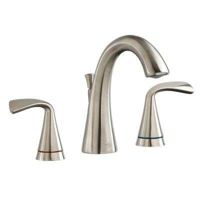 Fluent 8 in. Widespread 2-Handle Bathroom Faucet with Speed Connect Drain and Color Indicator in Brushed Nickel
