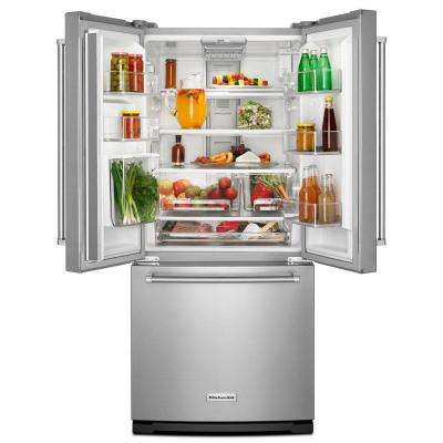 20 cu. ft. French Door Refrigerator in Stainless Steel with Interior Water Dispenser