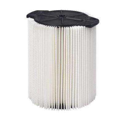 1-Layer Everyday Dirt Pleated Paper Filter for 5.0+ gal. RIDGID Wet Dry Vacs