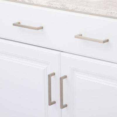 Contemporary 5-1/32 in. (128 mm) Center-to-Center Brushed Nickel Cabinet Pull