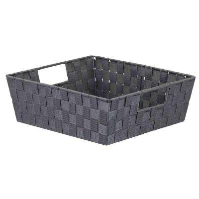12 in. D x 8 in. H Gray Non Stackable Bin