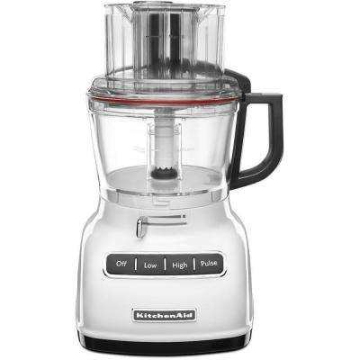 ExactSlice 9-Cup Food Processor with External Adjustable Lever in White