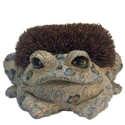 Toad Boot Brush with Replaceable Brush Garden Frog Statue