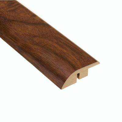 High Gloss Monterrey Walnut 1/2 in. Thick x 1-3/4 in. Wide x 94 in. Length Laminate Hard Surface Reducer Molding