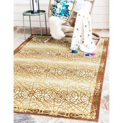 Outdoor Geometric Beige 10' 0 x 12' 0 Area Rug