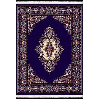 Cathedral Navy 5 ft. 3 in. x 7 ft. 6 in. Area Rug