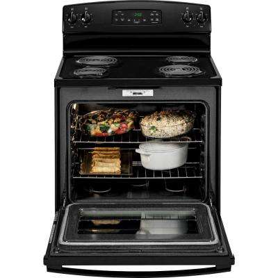 5.3 cu. ft. Electric Range with Self-Cleaning Oven in Black