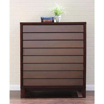 Island 4-Drawer Mocca Chest