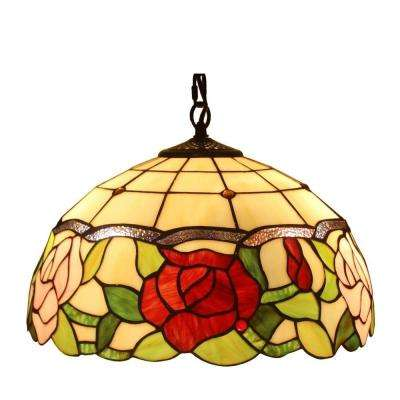2-Light Tiffany Style Floral Hanging Lamp