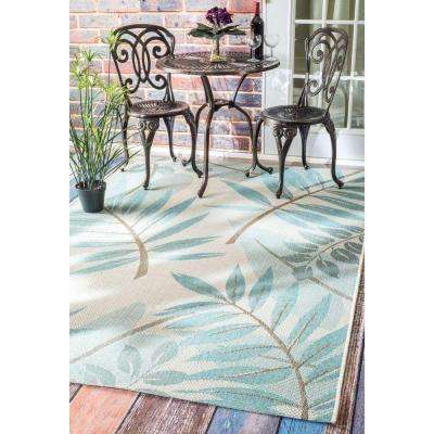 Trudy Turquoise 9 ft. x 12 ft. Indoor/Outdoor Area Rug