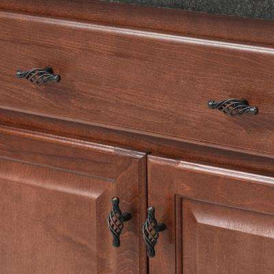 Village Classics 2-9/16 in. Oil Rubbed Bronze Birdcage Cabinet Knob