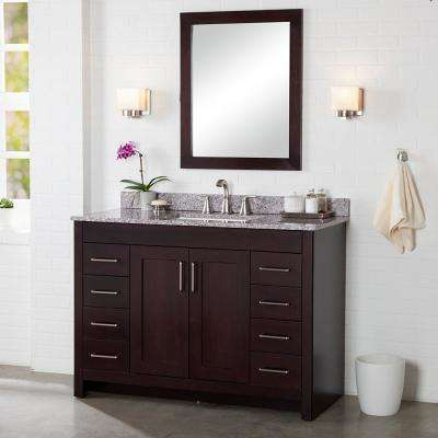 Westcourt 48 in. W x 21.69 in. D x 34.25 in. H Bath Vanity Cabinet Only in Chocolate