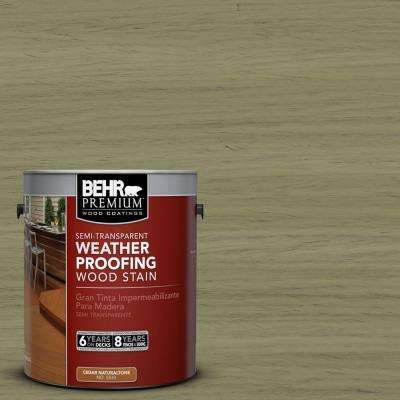 1-gal. #ST-151 Sage Semi-Transparent Weatherproofing Wood Stain